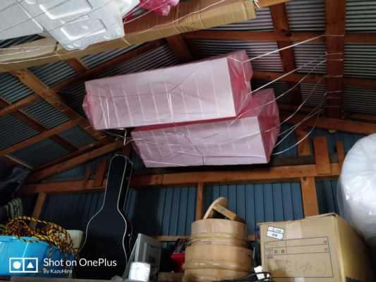 倉庫の天井収納は紐を使うとコスパ最強【DIY】