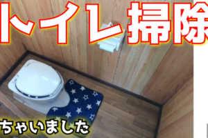 トイレ掃除しました。